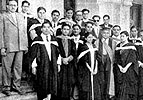 GRMC 1st Graduates at the convocation, Agra, 1951